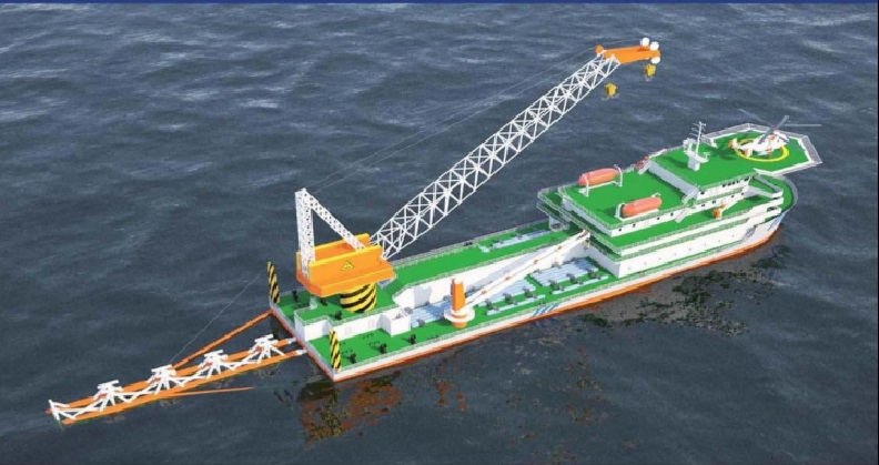 105m DP2 Heavy Lift and Pipelay Vessel - 2018 Newly Built For Sale