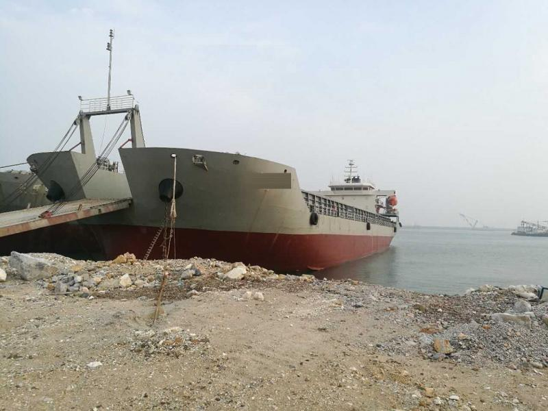 106m Self Propelled Deck Barge - DWT 7520 For Sale