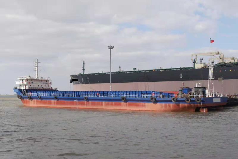 90m Self Propelled Barge Bow Bridge Type -  DWT 5725 For Sale