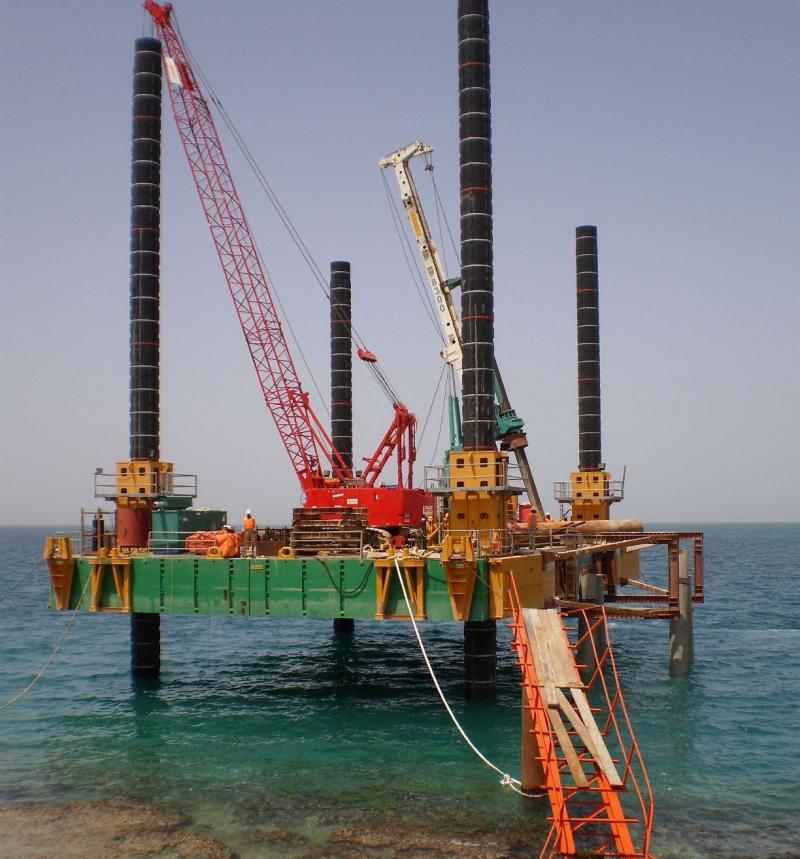 24m Jack Up Barge 2008 - Fully Modular - Self Elevating Platform For Sale