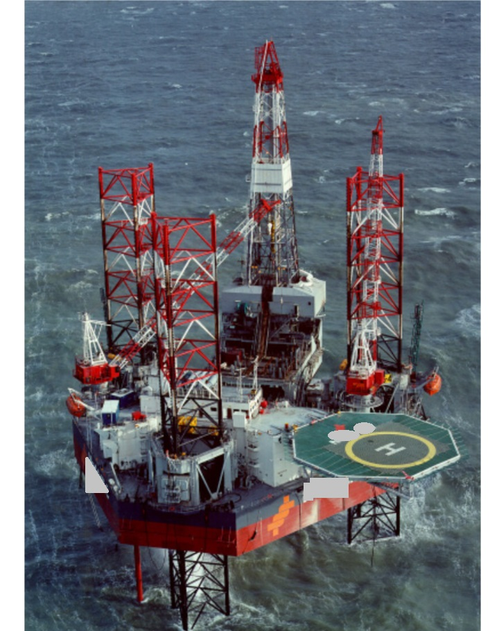 214 ft. Jack Up Drilling Rig - Cantilever Type 375 ft. Water Depth For Sale or L