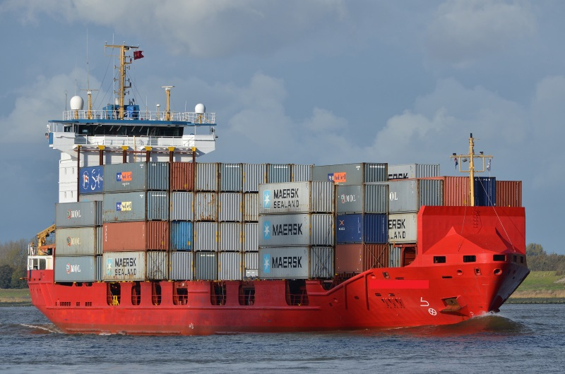 100m Container Ship Fully Cellular - 523 TEU For Sale
