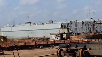 113m Floating Dry Dock 2013 - Lift Capacity 4500 mt For Sale
