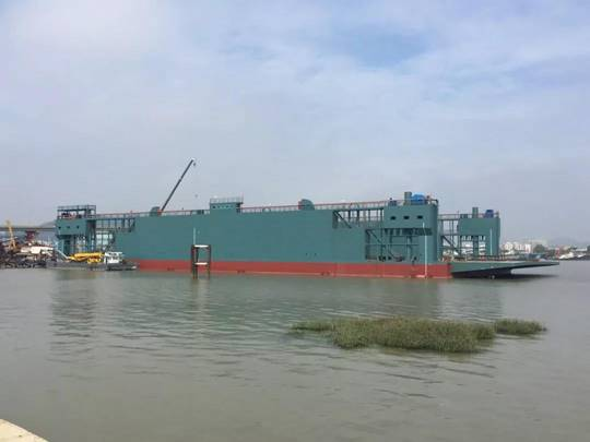 129m Floating Dry Dock 2017 - Lift Capacity 9000 mt For Sale