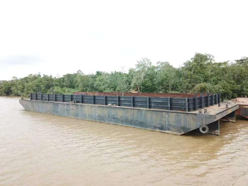 180' x 56' Deck Barge w Bin Walls For Sale
