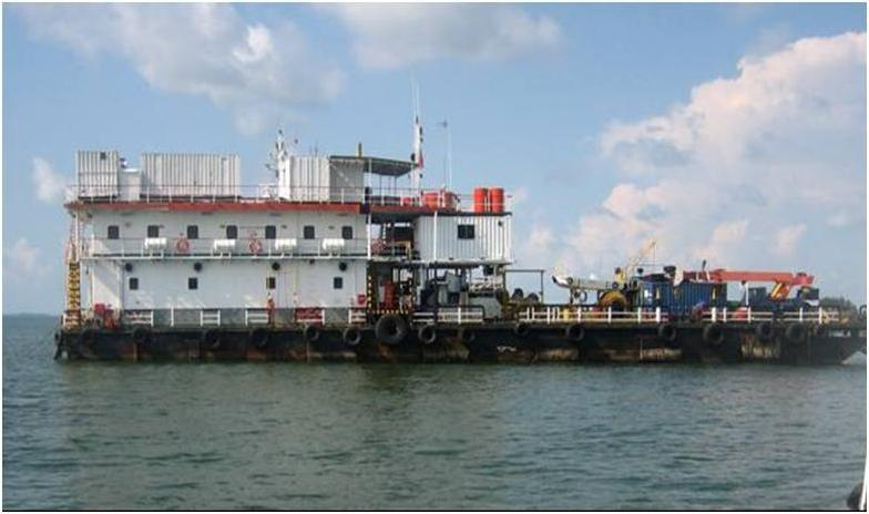 55m Accommodation Barge 1983 - 128 PAX - Deck Space 320 SQM For Sale