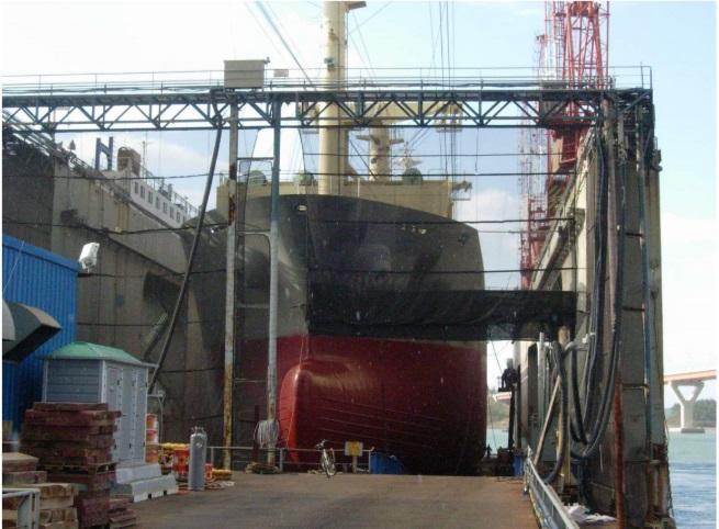 123m Floating Dry Dock 10,000 ton Lift Capacity