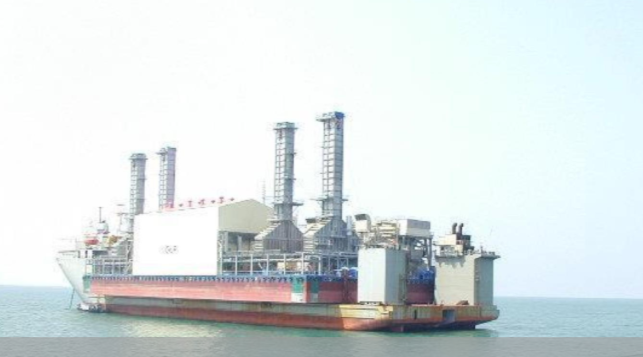 106m Power Plant Barge 250 MW (ISO) Gas based GMR For Sale