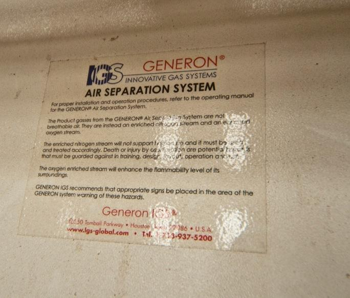 Generon Gassystem 6000 LF Cabinet 440V RO Model For Sale