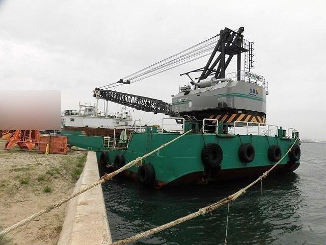 50m Crane Barge - 150 Ton Capacity For Sale