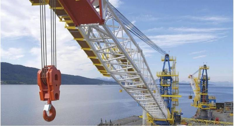 60 Series DNS60 Kingpost Offshore Deck Crane For Sale