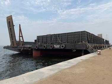 70m X @ Flat Deck Barges 2008 - Ramp Door - Side Wall For Sale