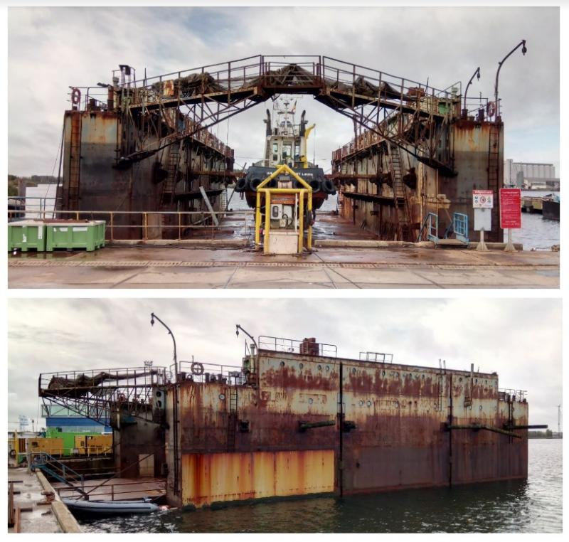 34m Dry Dock 600 ton lift For Sale