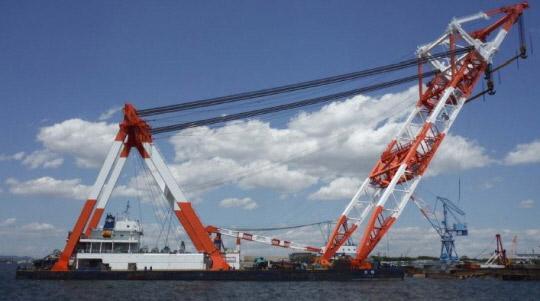 120m Floating Crane 2010 - 4000 TLC - Japan Built - Luffing Gib  For Sale