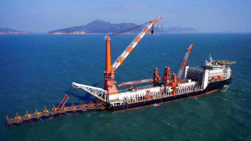 172m Pipe Layer Floating Crane Accommodation Barge For Sale or Charter