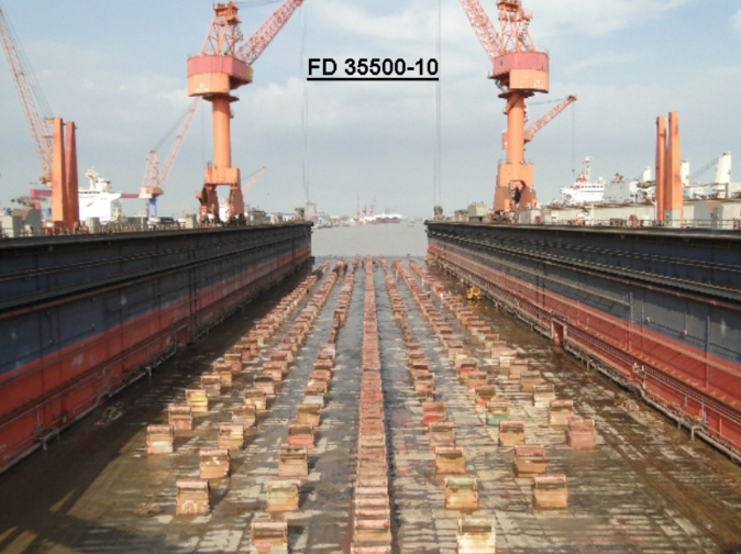 285m Floating Dock 2010 - 35500 TLC - Accommodates Aframax For Sale