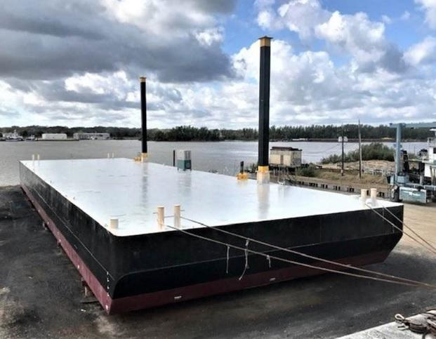 180' x 54' x 12' Spud Barge For Sale