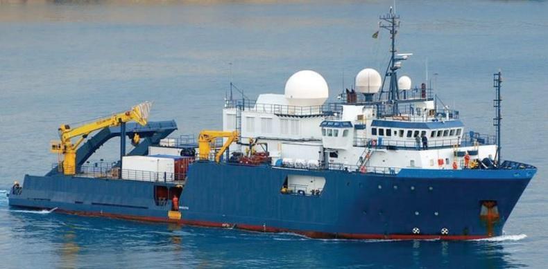 74m Research Survey Construction Support Vessel Built 2000 ABS ROV