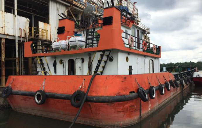 45m Self Propelled Oil Barge 2007 - DWT 600 For Sale