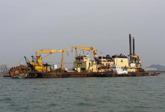 81m Cutter Suction Pump Dredger 1994 - Korea Built - 4500 CBM Per Hour For Sale