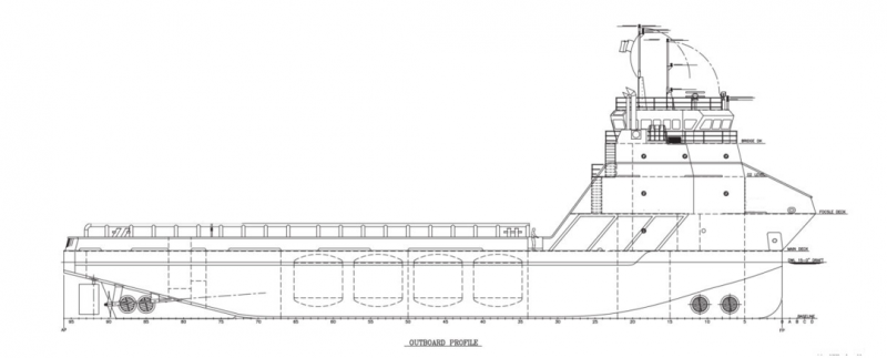 201' DP2 PSV Platform Supply Vessel 2015 - DWT 2043 For Charter