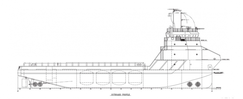 201' DP2 PSV Platform Supply Vessel 2014 - DWT 2043 For Charter