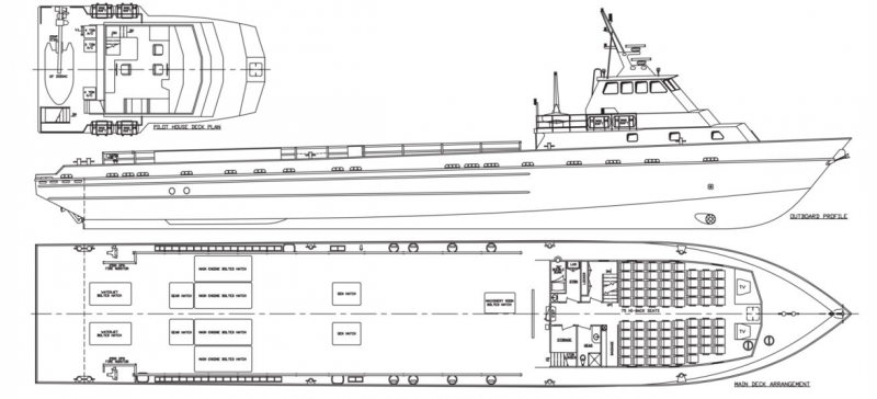 164' DP FSV Fast Support Vessel 2004 - DWT 280 For Charter