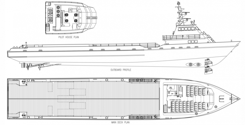 190' DP2 FSV Fast Support Vessel 2008 - DWT 457 For Charter
