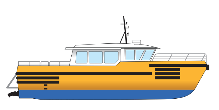 19m High Speed Personnel Transport Vessel - Max 26 Knots For Charter