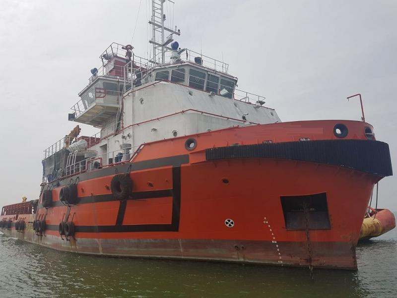 59m AHTS 2013 - 330 m2 Clear Deck - Accommodates 28 - DWT 1400 For Sale
