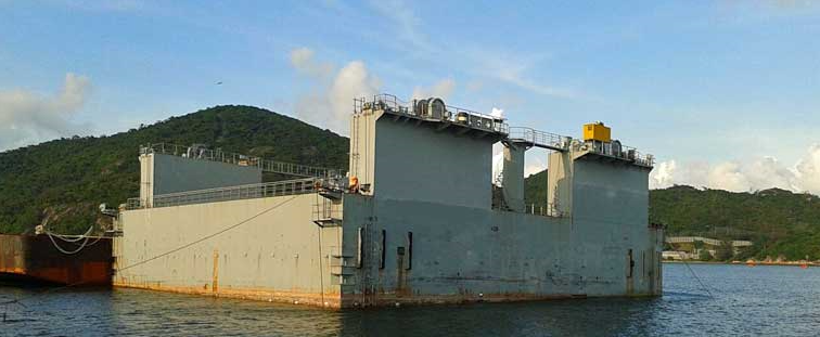 38m Gated Floating Dry Dock - DWT 5000 For Sale