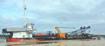 51m Drop Bottom Hopper Barge 125 Ton Crane - 550 m3 For Sale
