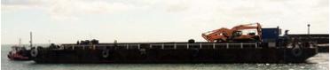 59m Pontoon Spud Barge 32m Legs 2005 - DWT 2731 For Sale