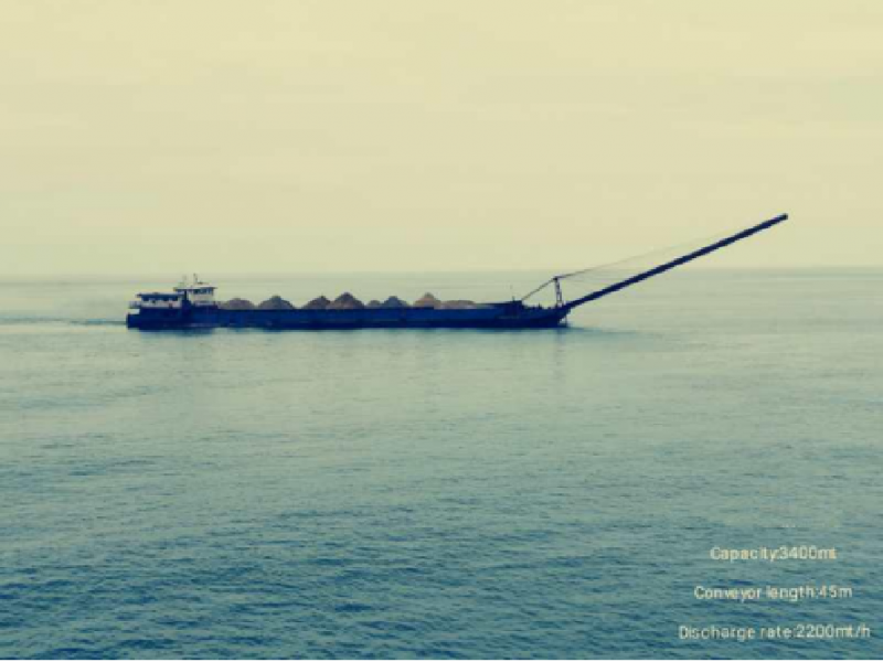 86m Self-Unloading Sand Carrier - 3400t Load Capacity For Sale