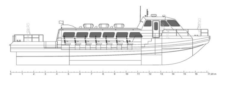 HDPE PASSENGER BOAT IZ 1730 for SALE