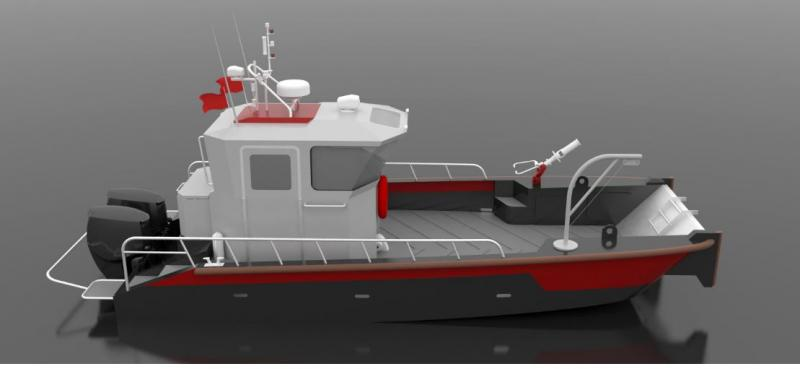 HDPE UTILITY BOAT IZ 820 for SALE