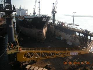 235m Floating Dry Dock Built 2000 - Lift Capacity 22,000 ton For Sale