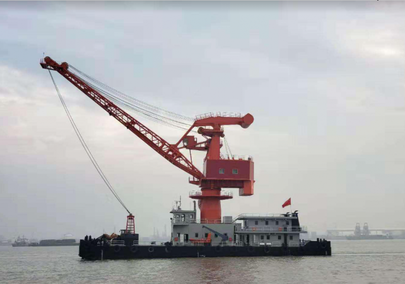 50m Self Propelled Floating Crane Barge - 2020 For Sale