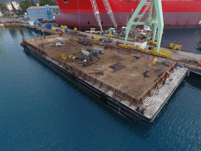 55m Flat Top Pontoon 2004 - Loading Capacity 938T For Sale