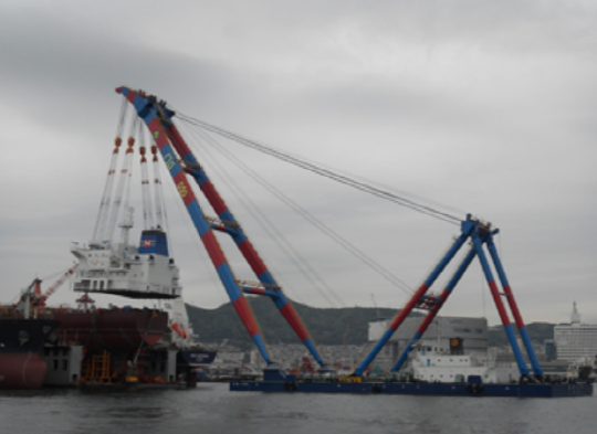 83m Floating Crane 2012 - 1500 TLC - Luffing Jib Type For Sale