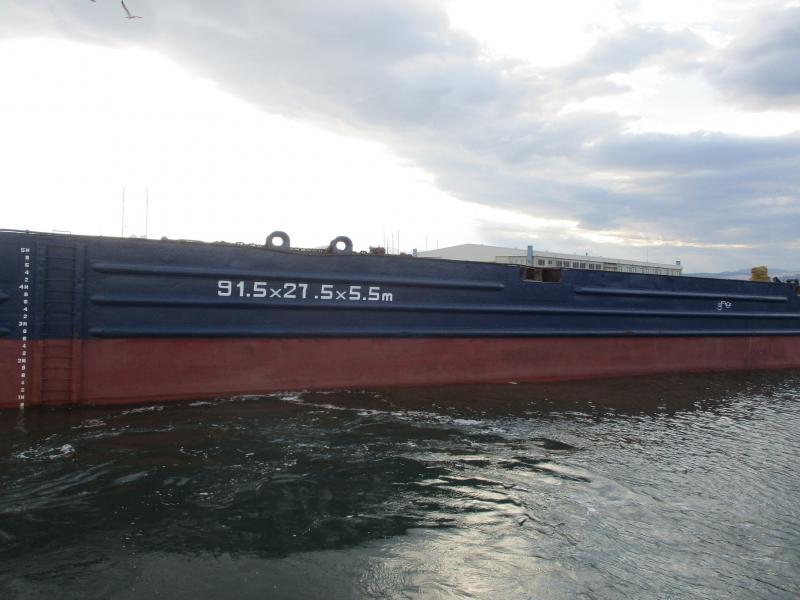 92m Heavy Deck Cargo Barge 1994 - Deck Strength 8T/SQM - DWT 8579 For Sale