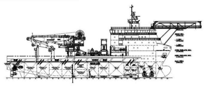 86m MPSV DP2 ROV Moonpool Subsea Crane Vessel - DWT 5000 For Sale