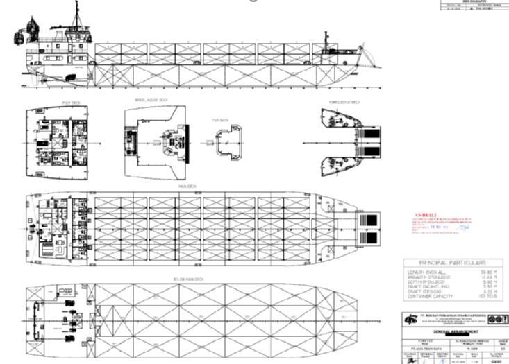 79m Container Landing Craft 2013 - 100 TEU - IMDG Dangerous Goods